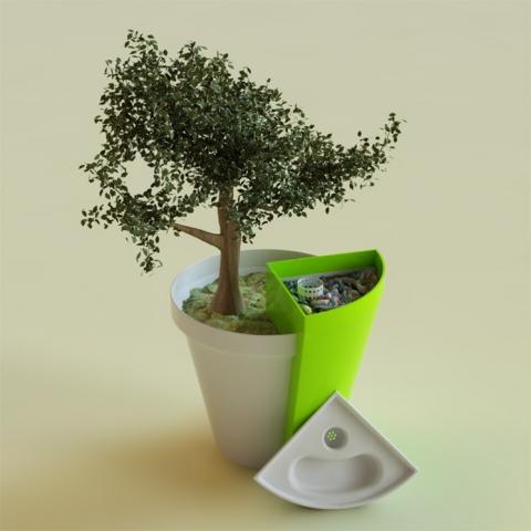 Un pot pour plantes avec composteur int gr blog conseils astuces bricolage d coration - Bac a plantes ...