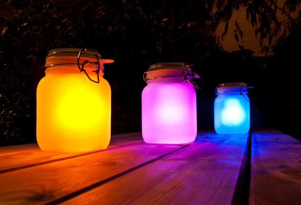 fabriquer jar pot solaire