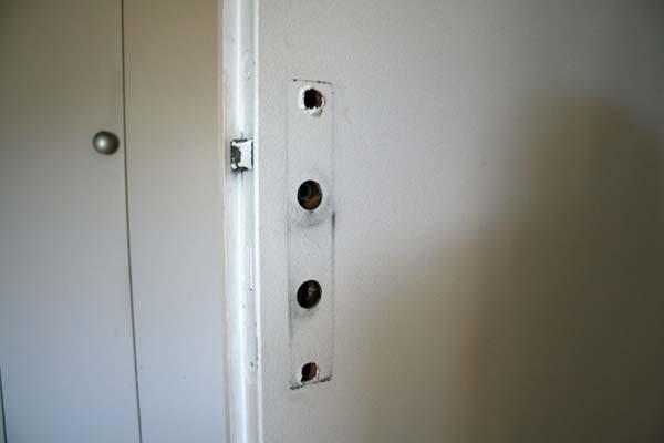 Poignee de porte maison blanc