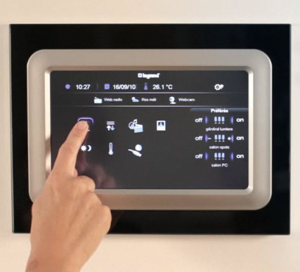 écran tactile domotique