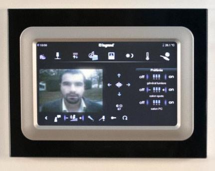 Ecran tactile vidéo domotique
