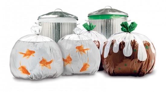 Des sacs poubelle décorés