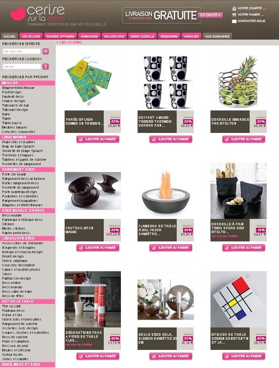 les bons plans soldes des boutiques d coration et design. Black Bedroom Furniture Sets. Home Design Ideas