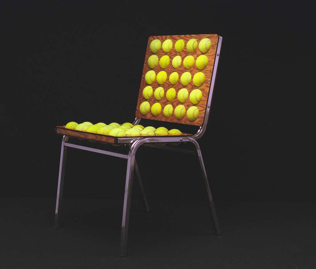 chaise balles de tennis fabriquer
