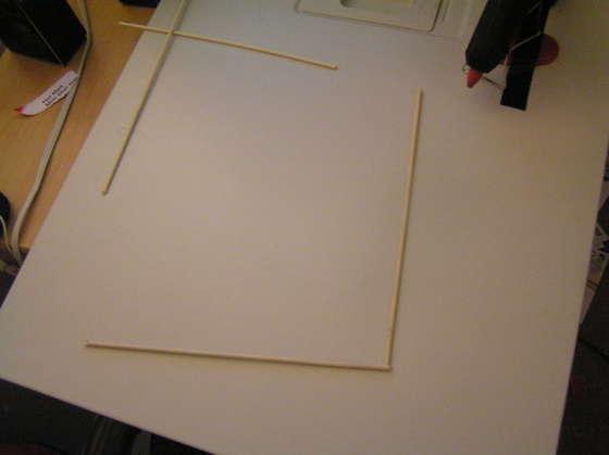 fabriquer structure lampe japonaise