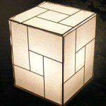 fabrication lampe japonaise papier