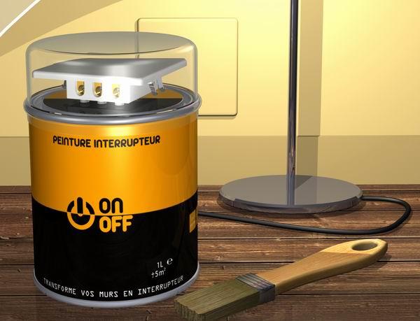 pot peinture interrupteur tactile