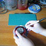 Tracer contour luminaire sur dessous de verre