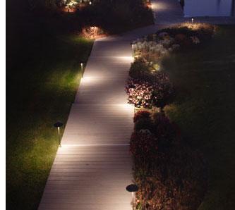 Eclairage allée jardin