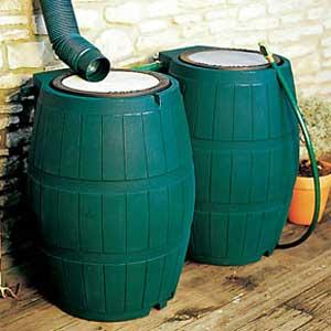 récupérateur d'eau de pluie pour le jardin