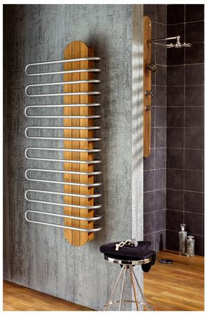radiateur sèche-serviettes en teck