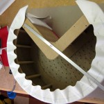 Base pouf pacman revêtement
