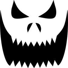 Modèle visage citrouille Halloween