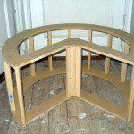 Structure bois pouf Pacman