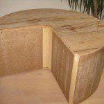Structure bois pouf Pacman avec les côtés