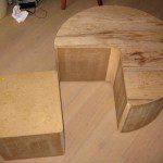Structure bois pouf cube Pacman