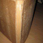 Tranche structure bois pouf Pacman