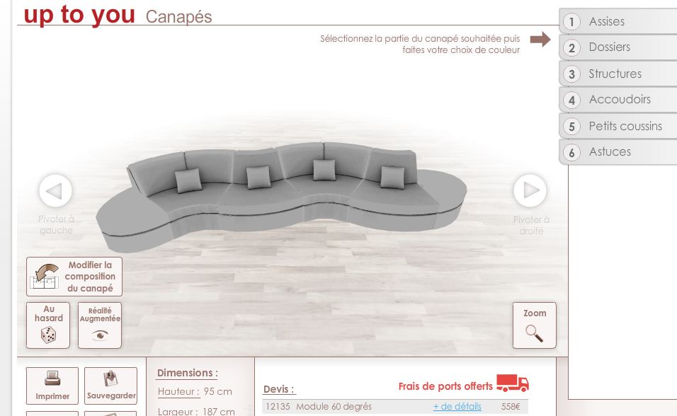 fabriquer un canap personnalis en ligne forumbrico. Black Bedroom Furniture Sets. Home Design Ideas