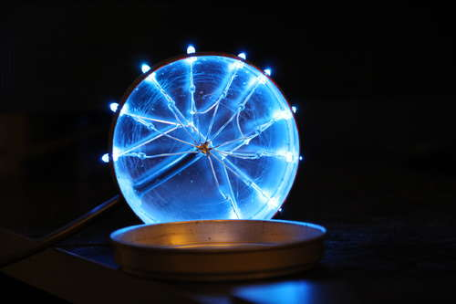 Boîtier LED allumé et ouvert