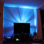 cr er un clairage led derri re la t l vision blog. Black Bedroom Furniture Sets. Home Design Ideas