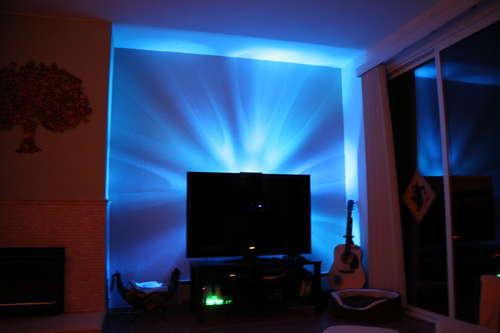 Lumière LED derrière Télévision