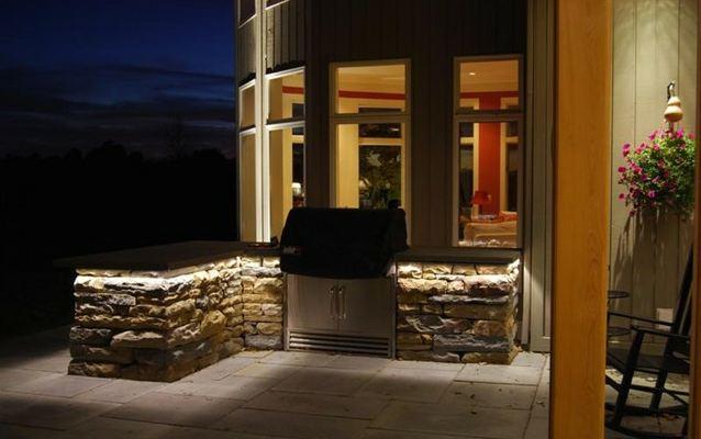 cuisine d'été extérieure lumières LED