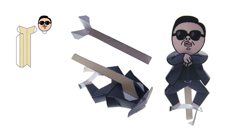 Tête Gangnam Style toy