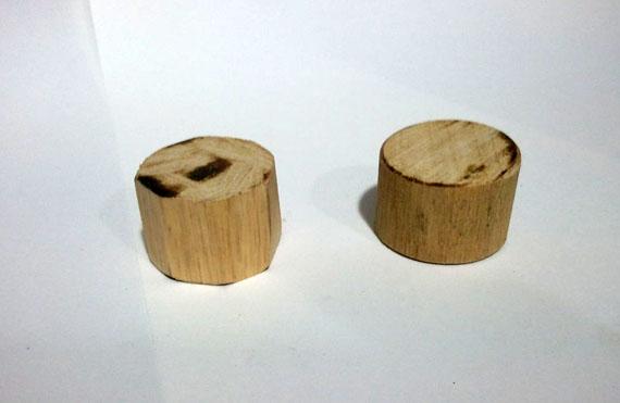 Manche de tournevis bois