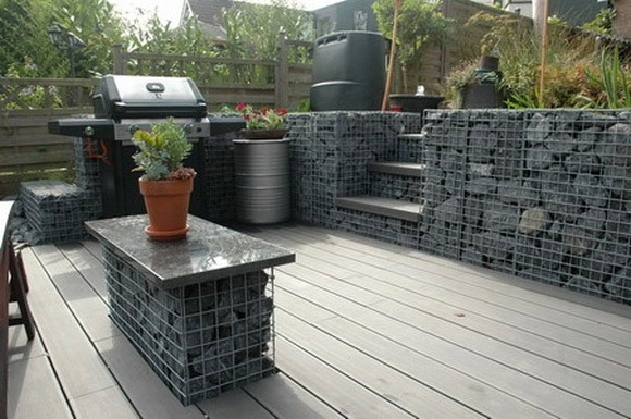 murs en gabions installation prix et avantages forumbrico. Black Bedroom Furniture Sets. Home Design Ideas