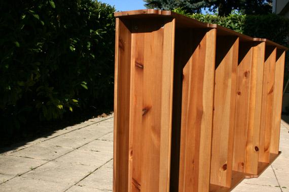 poncer une etagère bois