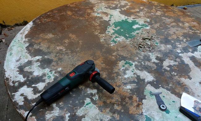 Comment repeindre une table en fer rouillée ? | Forumbrico