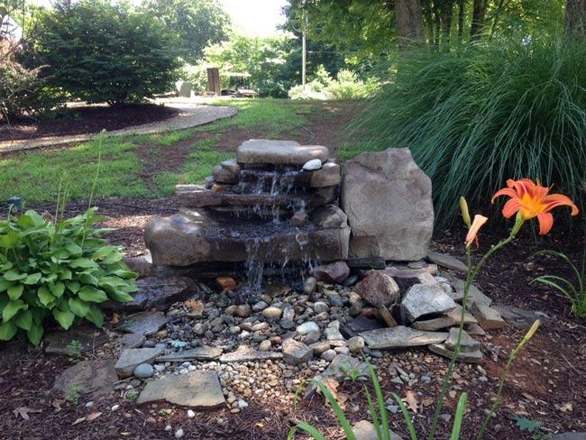 concevoir fontaine de jardin - ساخت آبنما در باغ رستوران