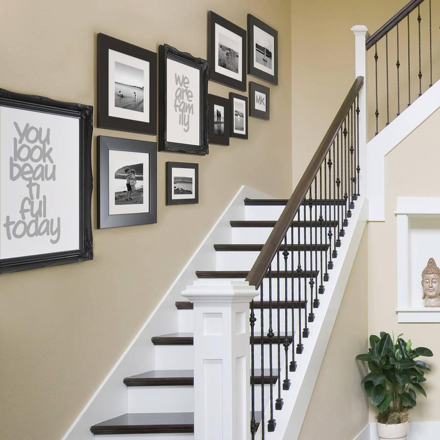 Placement cadres dans un escalier