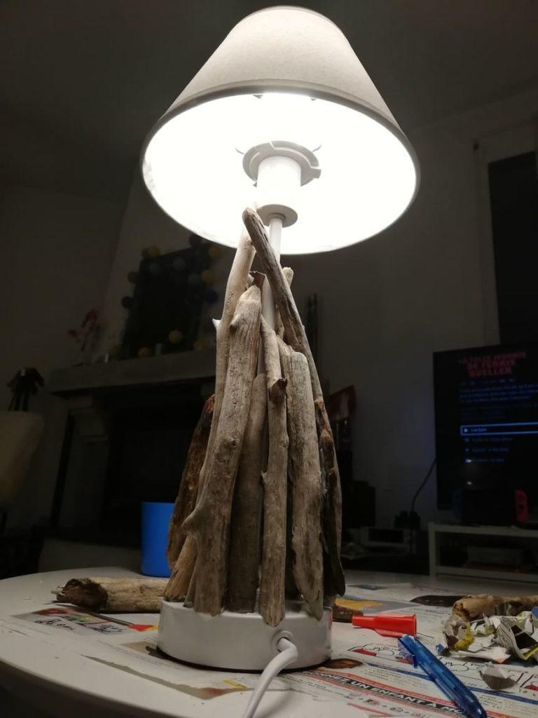 luminaires bois flotté