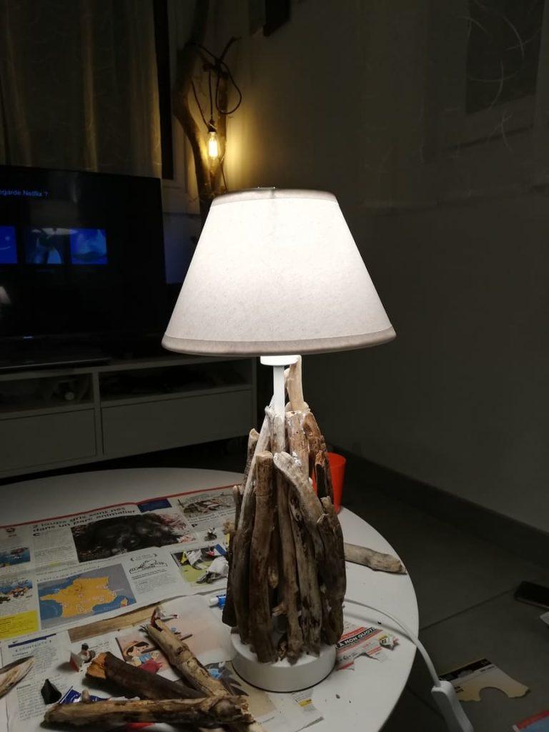Creer luminaire bois flotté