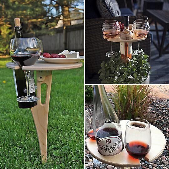 plateau aperitif bois pliable